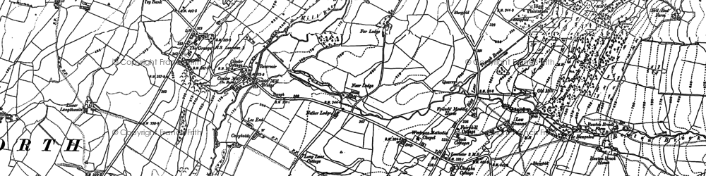 Old map of Windy Clough in 1910