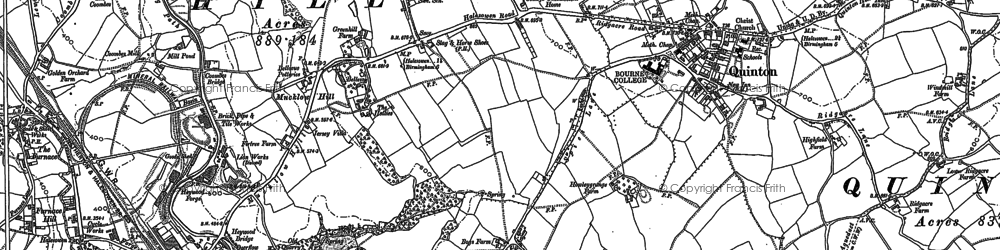 Old map of Quinton in 1882