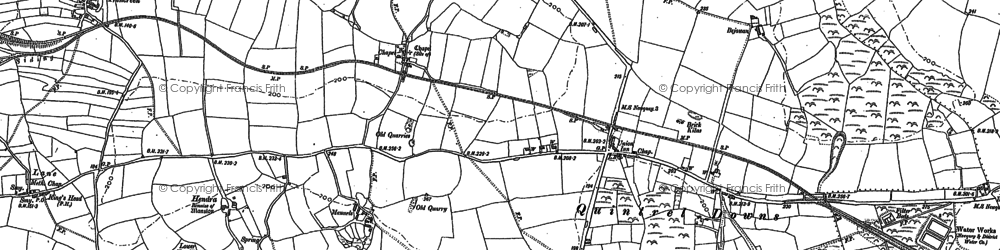 Old map of Quintrell Downs in 1880