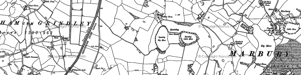Old map of Bar Mere in 1897