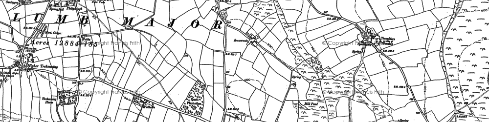 Old map of Quoit in 1880