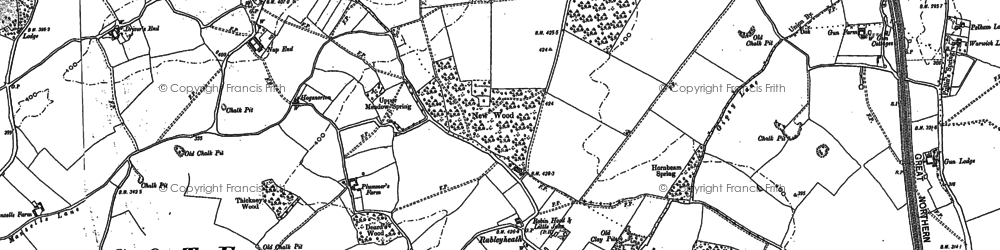 Old map of Driver's End in 1897
