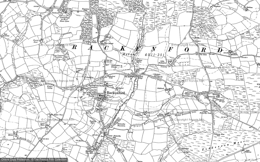 Old Map of Historic Map covering Tidderson in 1887