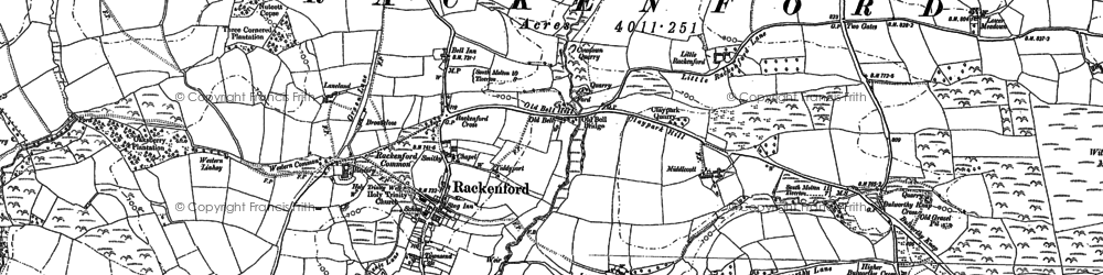 Old map of Willicroft Moor in 1887