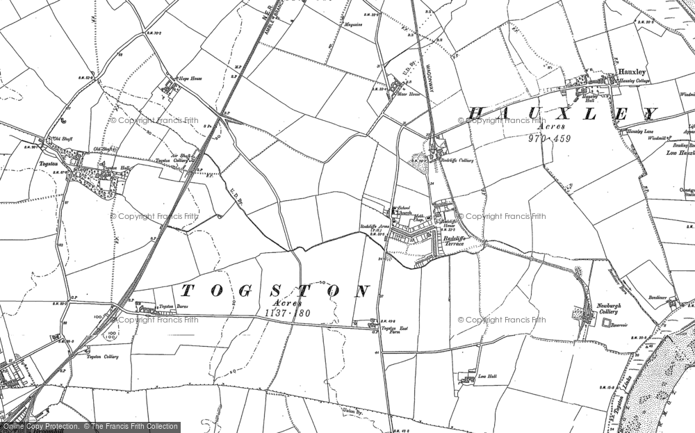 Old Map of Radcliffe, 1896 in 1896