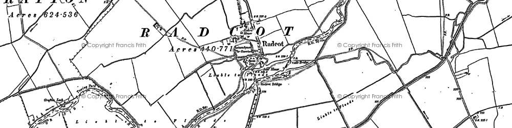 Old map of Radcot in 1910