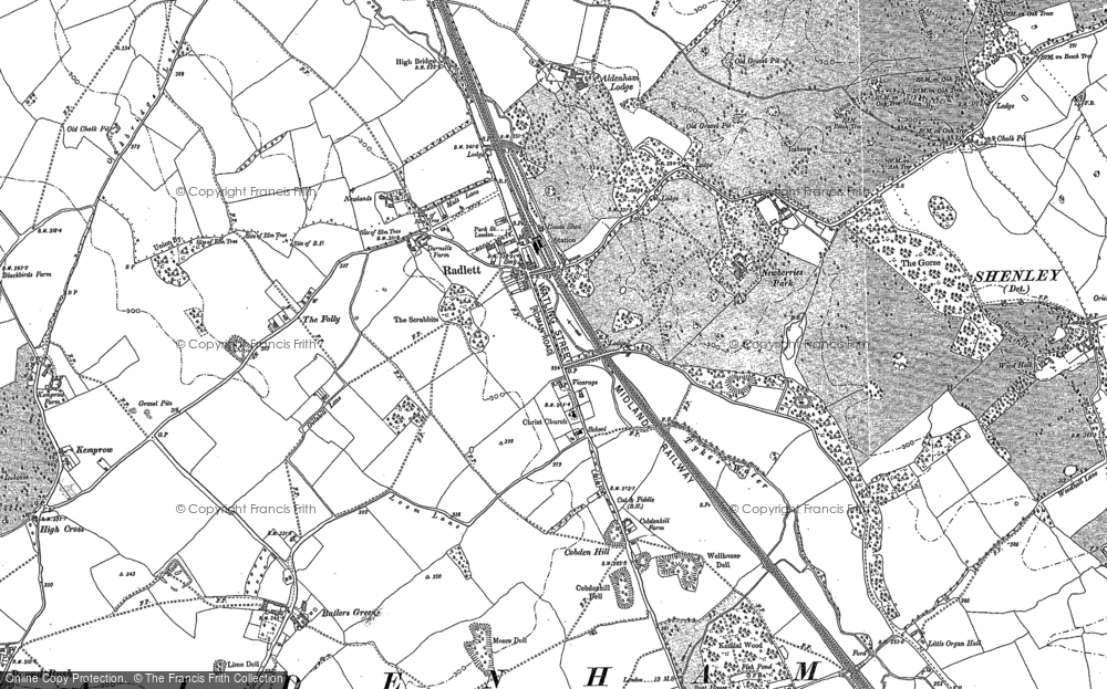 Old Map of Radlett, 1896 - 1911 in 1896