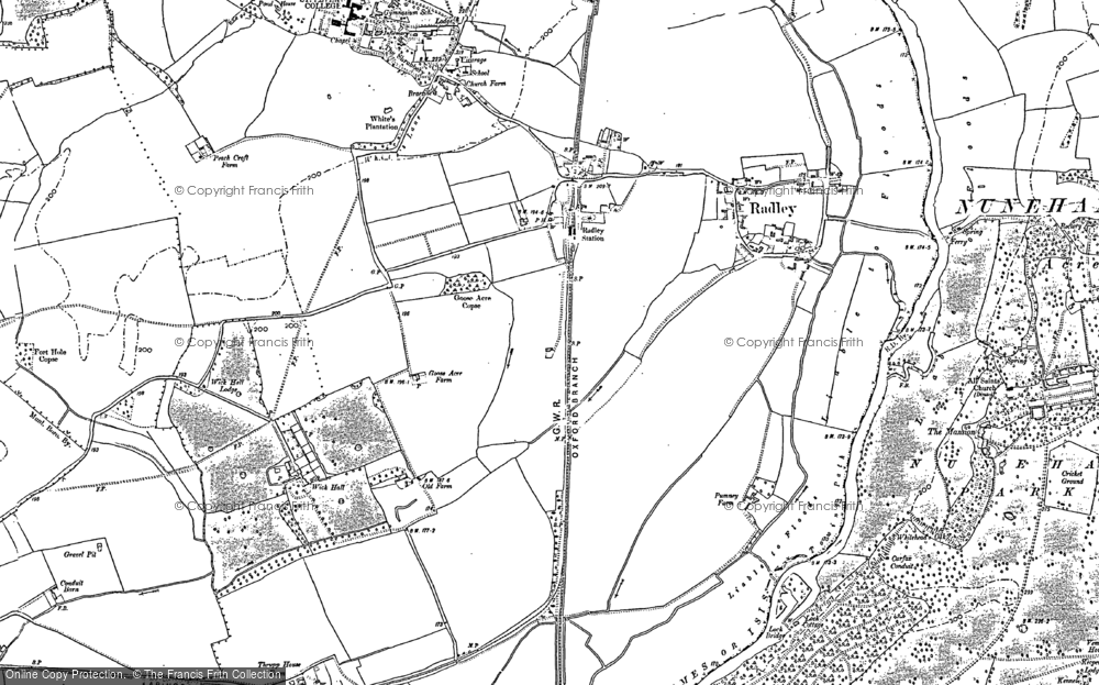 Old Map of Historic Map covering Abingdon-on-Thames in 1910