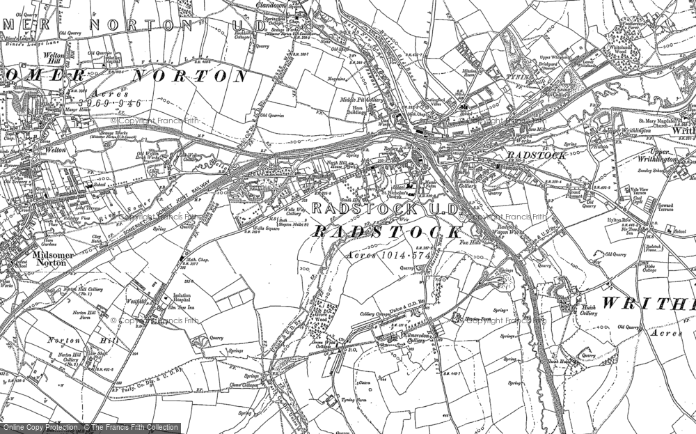 Map of Radstock, 1884