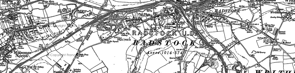 Old map of Radstock in 1884