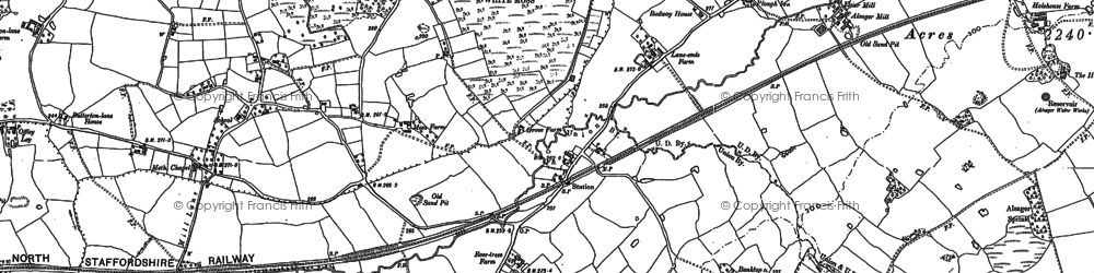 Old map of Bank Top in 1908