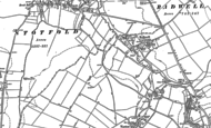 Old Map of Radwell, 1900
