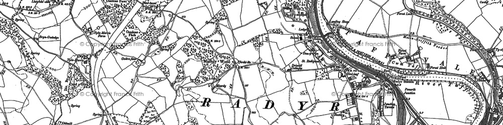 Old map of Radyr in 1897