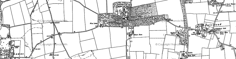 Old map of Badersfield in 1884