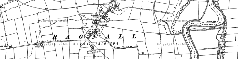 Old map of Whimpton Village in 1884