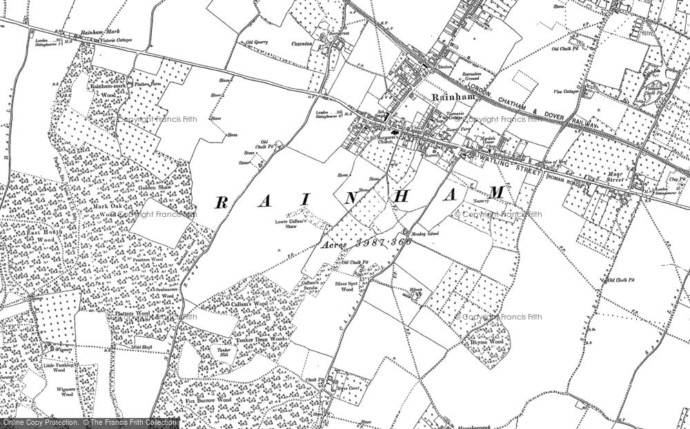 Map of Rainham, 1896