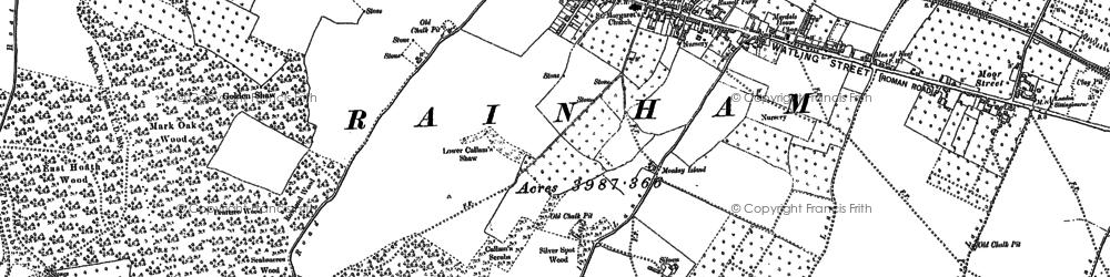 Old map of Rainham in 1896