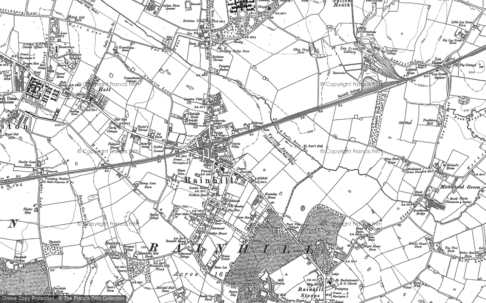 Old Map of Rainhill, 1891 - 1892 in 1891