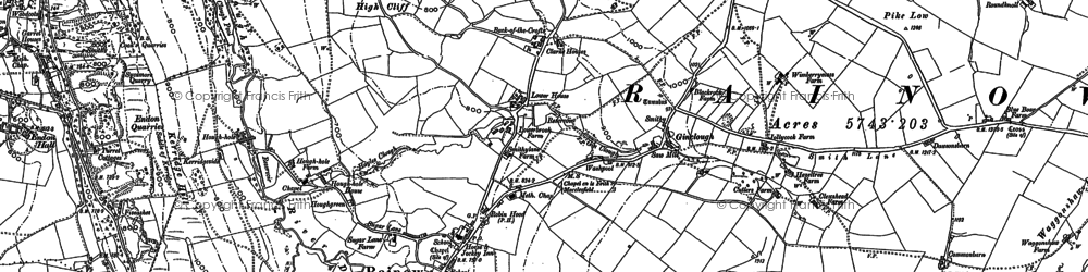 Old map of Yearns Low in 1907