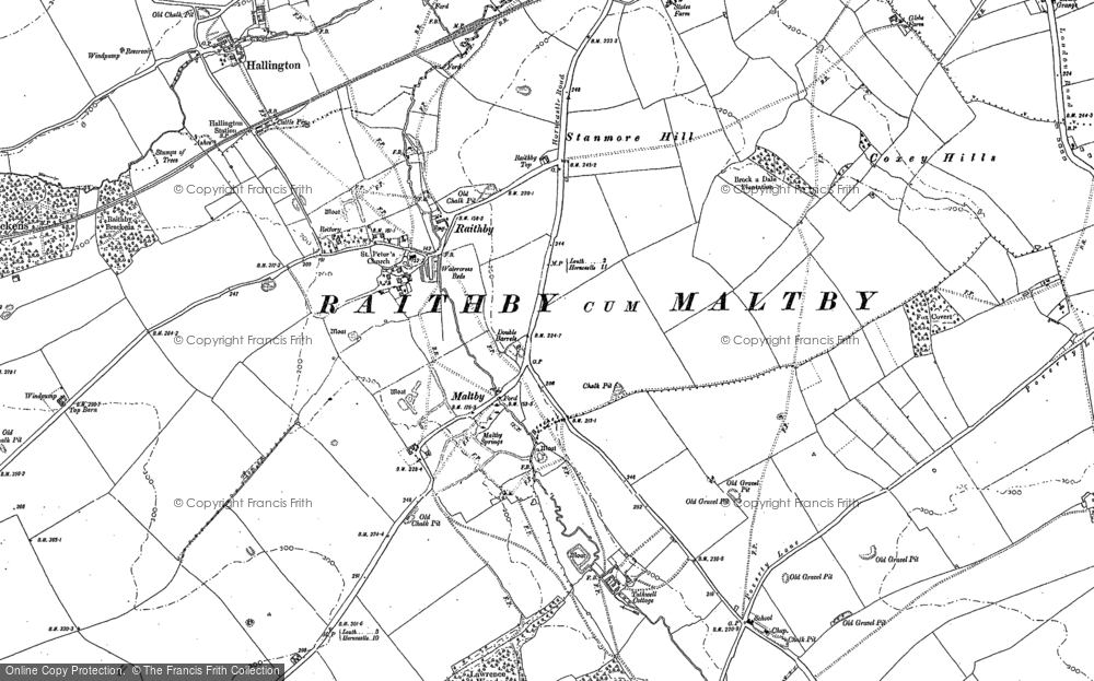 Old Map of Historic Map covering Coxey Hills in 1886