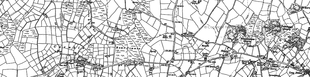 Old map of Rame in 1878