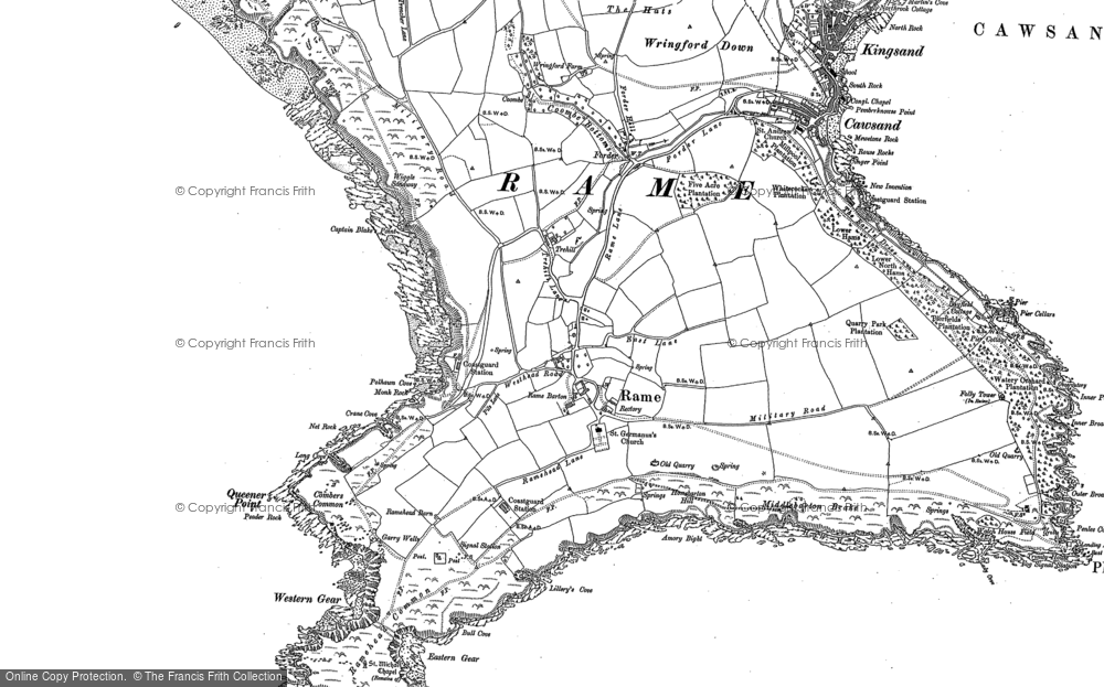 Old Map of Historic Map covering Lillery's Cove in 1886