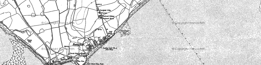 Old map of Westfield Point in 1910