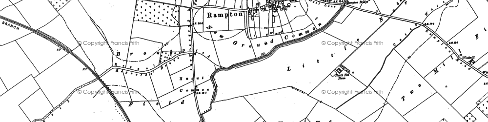 Old map of Westwick Field in 1887