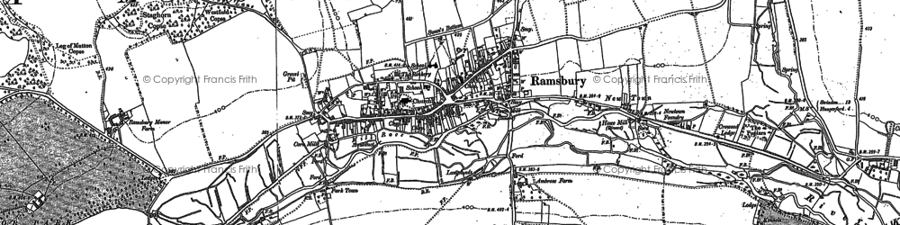 Old map of White's Hill in 1899