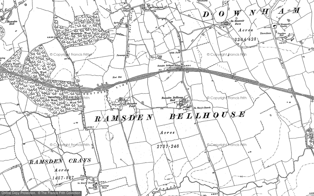 Old Map of Ramsden Bellhouse, 1895 in 1895