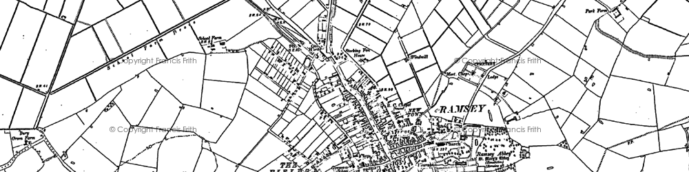 Old map of Ramsey in 1887