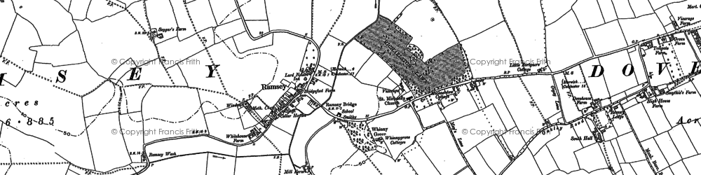 Old map of Ramsey in 1896