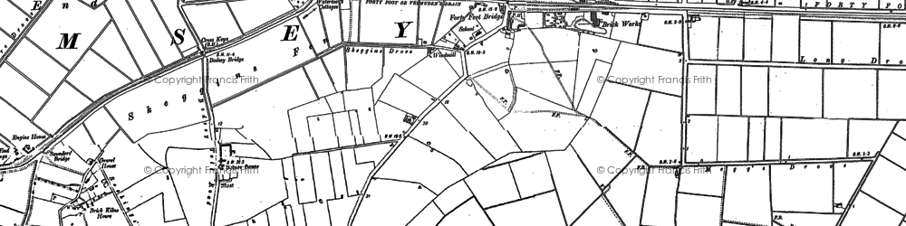 Old map of Ash Drain in 1887