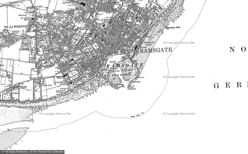 Map Of Ramsgate Old Maps of Ramsgate   Francis Frith