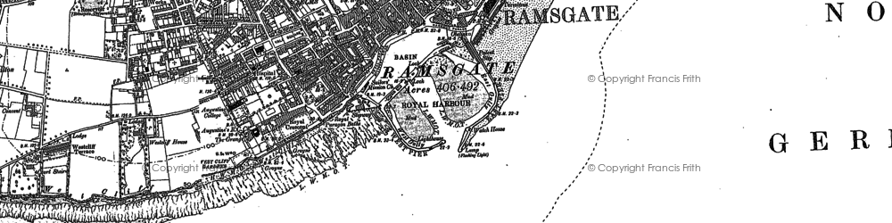 Old map of Ramsgate in 1897