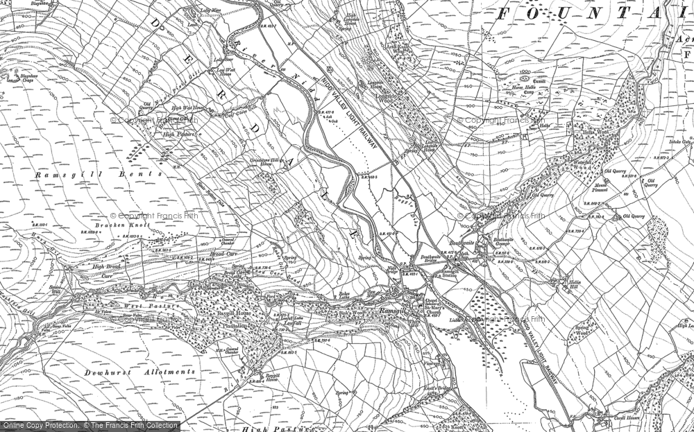 Old Map of Ramsgill, 1907 - 1908 in 1907