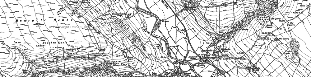 Old map of Ramsgill in 1907