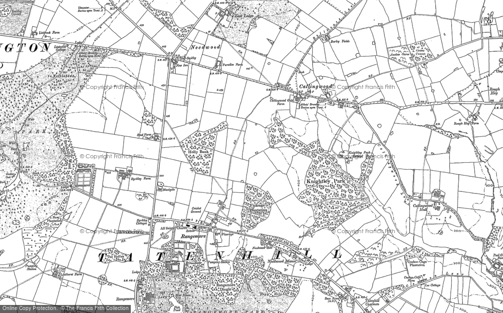 Old Map of Historic Map covering Lin Brook in 1882