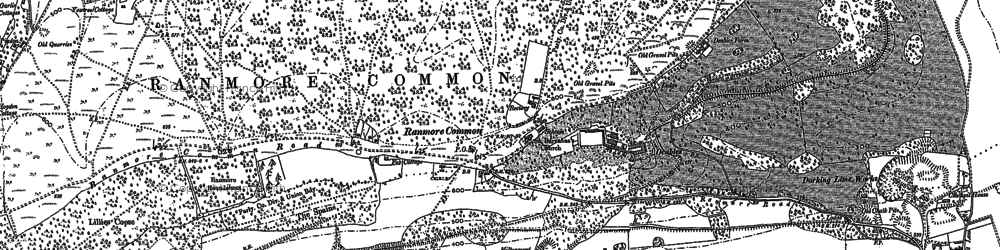 Old map of Ranmore Common in 1895