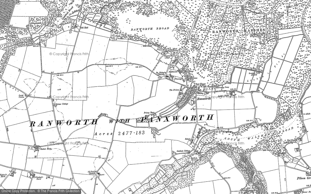 Old Map of Ranworth, 1881 - 1884 in 1881