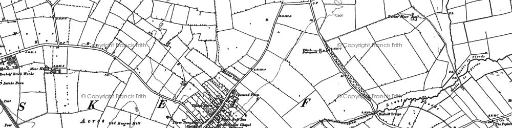 Old map of Leys Barn in 1889