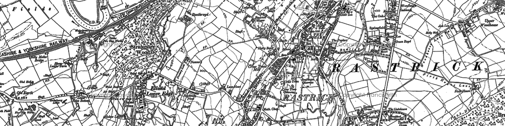 Old map of Toothill in 1892