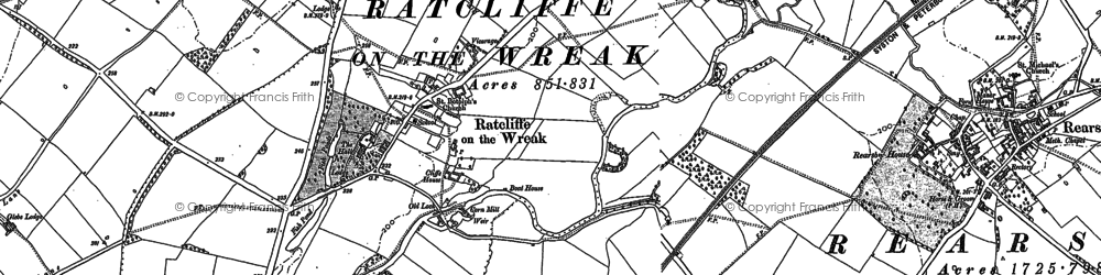 Old map of Lewin Br in 1883