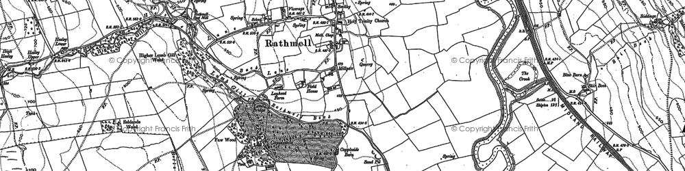 Old map of Whelp Stone Crag in 1907