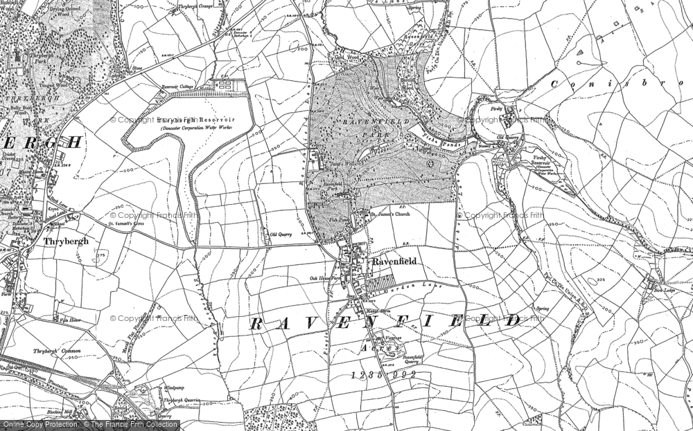 Map of Ravenfield, 1890 - 1901 - Francis Frith