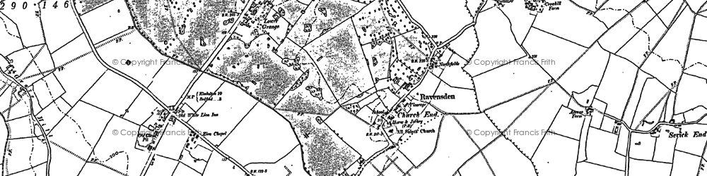 Old map of Wood End in 1882