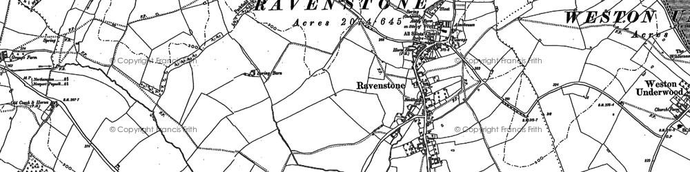 Old map of Ravenstone in 1899