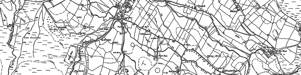 Old map of Ashfield in 1897