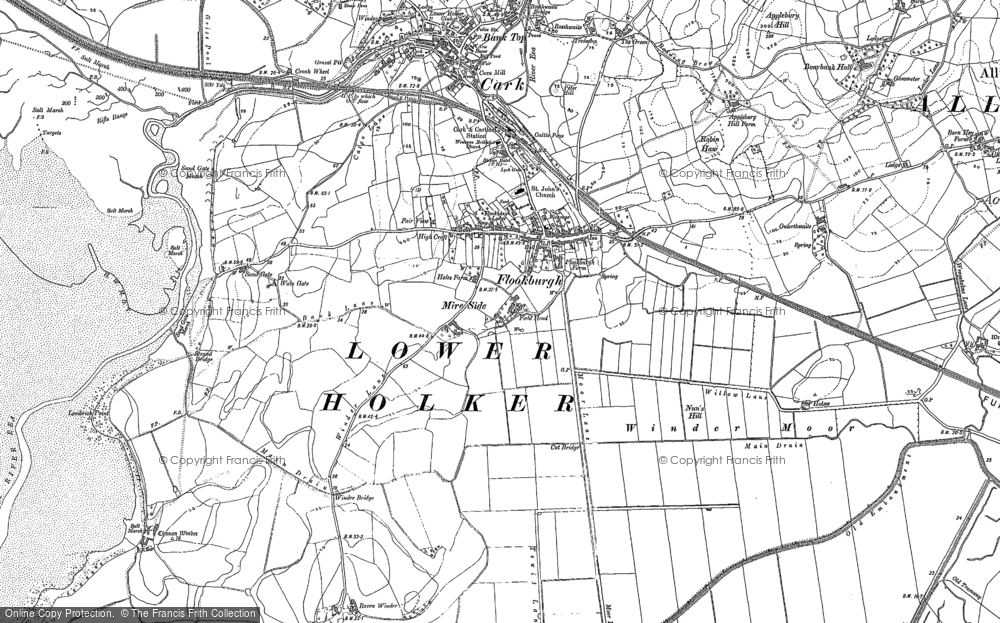 Old Map of Historic Map covering Lenibrick Point in 1847