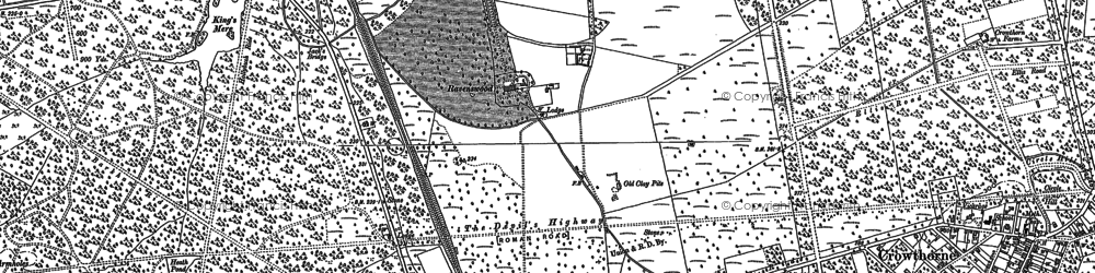 Old map of Wellington College in 1910